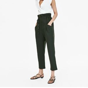 Zara Green Linen Trousers